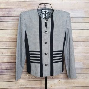 Vintage Perceptions 10 black pattern blazer